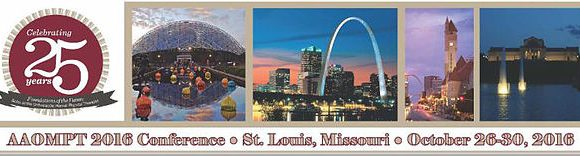 AAOMPT 2016 Conference – See you in St. Louis!