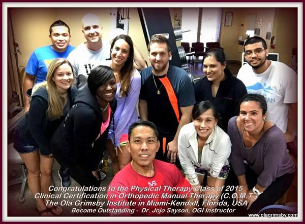 Congratulations! COMT Miami Group
